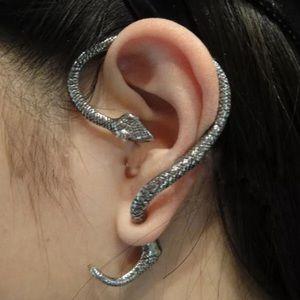 Slinking Snake Stud Earring